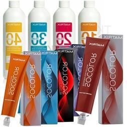Matrix Socolor Permanent Hair Color 3oz or Creme Developer 3